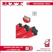 Алмазная туннельная коронка HTT-tools тип  ROBUST-LMA
