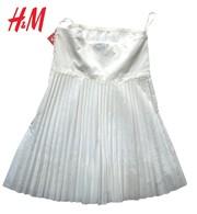 Новое женское платье H&M,  полиэстер+хлопок,  цвет: белый,  плиссе