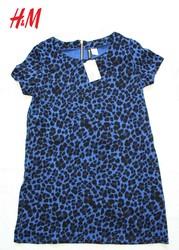 Новое женское платье H&M,  100% хлопок,  цвет: фиолетовый леопард