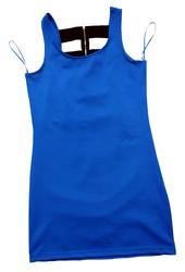Новое женское платье Clockhouse от C&A,  полиэстер,  цвет: ярко синий,  L