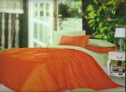 ПК Lifestyle 1, 5 сп. Сатин Однотонный LC-31,   оранж-зеленый
