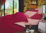 ПК Lifestyle 2 сп. Сатин Однотонный  LC-25,  бордовый-розовый