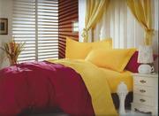 ПК Lifestyle 2 сп. Сатин Однотонный  LC-22,  бордовый-желтый