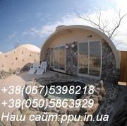 Купольные дома  110$ за м.кв, оборудование для производства.