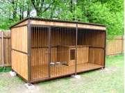 Вольер для собаки с утепленной будкой (разборный)