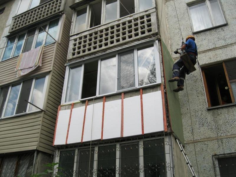 Наружное утепление балконов, облицовка сайдингом в алматы, п.
