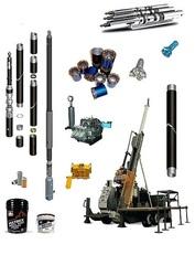 буровой инструмент,  буровая штанга, буровая коронка БКПМ,  КНШ, и др.,  пневмоударник,  хвостовик,  буровые растворы и добавки.