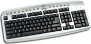 Продам новую клавиатуру Delux DLK-9872 PS/2 multi black/silver