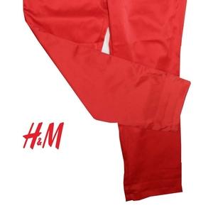 Новые женские брюки H&M,  полиэстер+хлопок+эластан,  цвет: ярко-красный