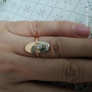 Кольцо с бриллиантом СССР 583пробы диаметр камня 3мм