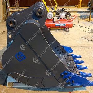 Усиленный ковш с бокорезами HD-2.1, 1 для экскаватора Doosan