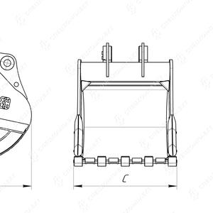 Усиленный ковш с бокорезами HD-2.1, 5 для экскаватора Volvo