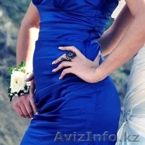 продам вечернее платье синее русалочка