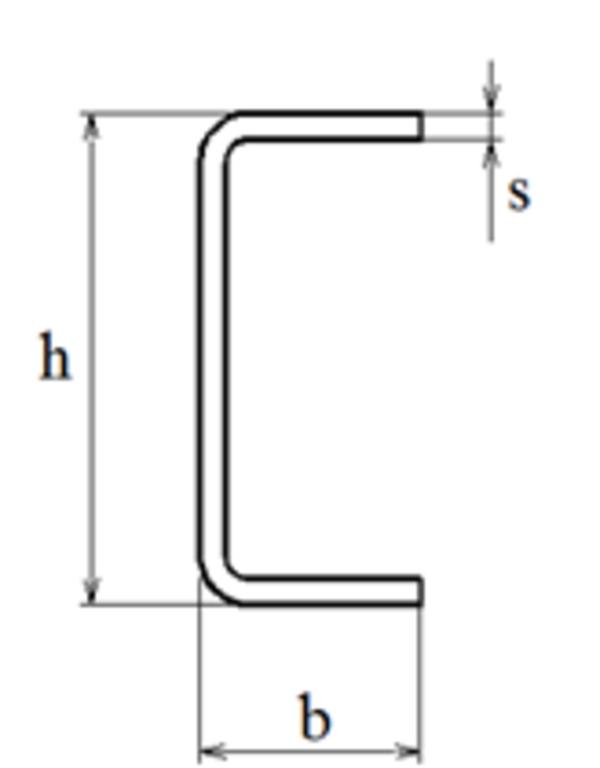 Швеллер гнутый тонкостенный  2