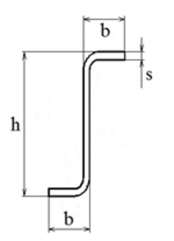 Z-образный профиль гнутый тонкостенный 2