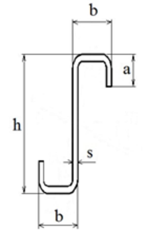 Z-образный окантованный профиль гнутый тонкостенный 2