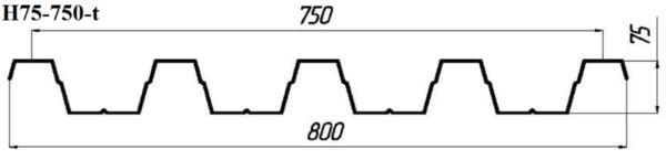 Профнастил Н75-750-t (кровельный) 3