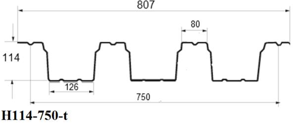 Профнастил Н114-750-t (кровельный) 3