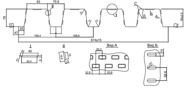 Арматурный профиль Н80а-674-t (несъемная опалубка) 3