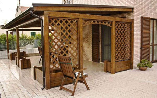 Изготовление деревянных шпалер 2