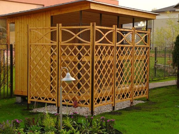 Изготовление деревянных шпалер 7