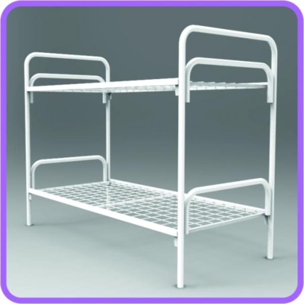 Металлические одноярусные,  двухъярусные кровати от производителя оптом 3