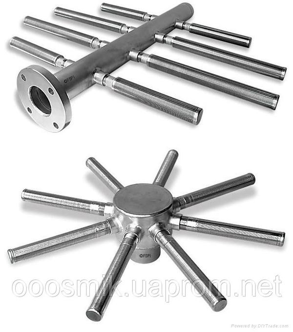 Нижние и верхние распределительные (НРУ,  ВРУ) устройства для фильтров
