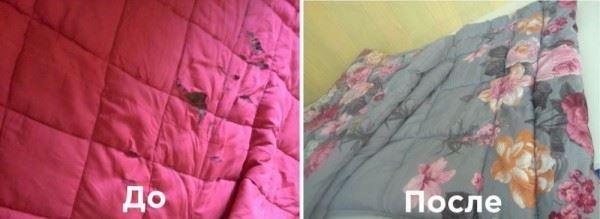 Реставрация одеял из шерсти 2