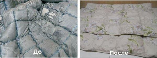 Реставрация одеял из шерсти 4