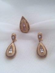 золотой набор 18К с бриллиантами и аметистом